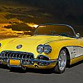 1959 Corvette Yellow Roadster by Dave Koontz