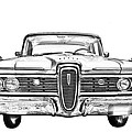 1959 Edsel Ford Ranger Illustration by Keith Webber Jr