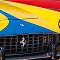 1959 Ferrari 250 Gt Coupe Grille Emblems by Jill Reger