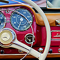 1959 Mercedes-benz 190 Sl Steering Wheel by Jill Reger