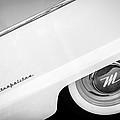 1959 Nash Metropolitan 1500 Convertible Wheel Emblem -0388bw by Jill Reger