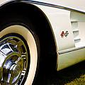 1959 White Chevy Corvette by David Patterson