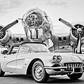 1960 Chevrolet Corvette - B-17 Bomber by Jill Reger