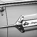 1960 Chevrolet Impala Emblem -340bw by Jill Reger