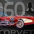 1960 Corvette by Anita Hubbard
