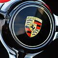 1960 Porsche 356 B Roadster Steering Wheel Emblem by Jill Reger