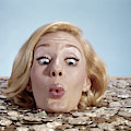 1960s Blond Woman Funny Facial by Vintage Images