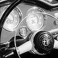 1961 Alfa Romeo Giulietta Spider Steering Wheel Emblem -1239bw by Jill Reger