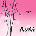 1961 Barbie Doll Patent Art 2 by Nishanth Gopinathan