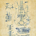 1961 Fender Guitar Patent Artwork - Vintage by Nikki Marie Smith