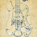 1961 Fender Guitar Patent Minimal - Vintage by Nikki Marie Smith