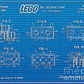 1961 Lego Building Blocks Patent Art 1 by Nishanth Gopinathan