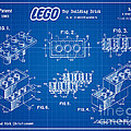 1961 Lego Building Blocks Patent Art 3 by Nishanth Gopinathan