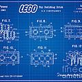 1961 Lego Building Blocks Patent Art 4 by Nishanth Gopinathan