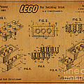 1961 Lego Building Blocks Patent Art 5 by Nishanth Gopinathan