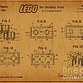1961 Lego Building Blocks Patent Art 6 by Nishanth Gopinathan