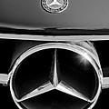 1961 Mercedes-benz 300 Sl Grille Emblem by Jill Reger