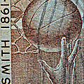 1961 Naismith Basketball Stamp by Bill Owen