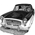 1961 Nash Metro In Black White by Jack Pumphrey