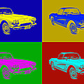 1962 Chevrolet Corvette Convertible Pop Art by Keith Webber Jr