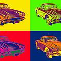 1962 Chevrolet Corvette Pop Art by Keith Webber Jr