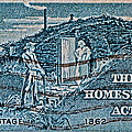 1962 Homestead Act Stamp by Bill Owen