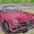 1962 Mercedes Benz 190sl by Anna Ruzsan