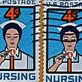 1962 Nursing Stamp Collage by Bill Owen