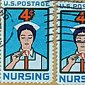 1962 Nursing Stamp Collage - Oakland Ca Postmark by Bill Owen
