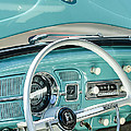 1962 Volkswagen Vw Beetle Cabriolet Steering Wheel by Jill Reger