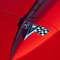 1963 Chevrolet Corvette Hood Emblem by Jill Reger