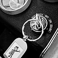 1963 Chevrolet Corvette Split Window - Mr Zip Key Ring -173bw by Jill Reger