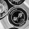 1963 Chevrolet Corvette Split Window Steering Wheel Emblem -170bw by Jill Reger