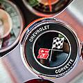1963 Chevrolet Corvette Split Window Steering Wheel Emblem -170c by Jill Reger