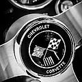 1963 Chevrolet Corvette Split Window Steering Wheel Emblem -309bw by Jill Reger