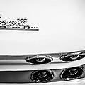 1963 Chevrolet Corvette Split Window Taillight Emblem -458bw by Jill Reger