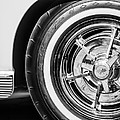 1963 Chevrolet Corvette Split Window Wheel -090bw by Jill Reger