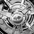 1963 Chevrolet Corvette Split Window Wheel Emblem -478bw by Jill Reger
