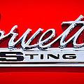 1963 Chevy Corvette Stingray Emblem by David Patterson