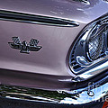 1963 Ford Galaxie Front End And Badge by Kaye Menner