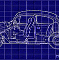 1963 Volkswagon Beetle Blueprint by Bill Cannon