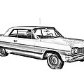 1964 Chevrolet Impala Car Illustration by Keith Webber Jr