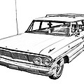 1964 Ford Galaxy Country Stationwagon Illustration by Keith Webber Jr