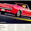 1964 - Ford Mustang Convertible - Advertisement - Color by John Madison