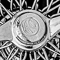 1964 Shelby 289 Cobra Wheel Emblem -0666bw by Jill Reger