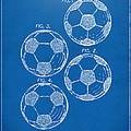 1964 Soccerball Patent Artwork - Blueprint by Nikki Marie Smith