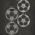 1964 Soccerball Patent Artwork - Gray by Nikki Marie Smith