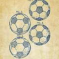 1964 Soccerball Patent Artwork - Vintage by Nikki Marie Smith