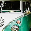 1964 Volkswagen Vw Samba 21 Window Bus by Jill Reger