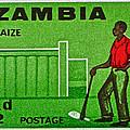 1964 Zambia Farmer Stamp by Bill Owen